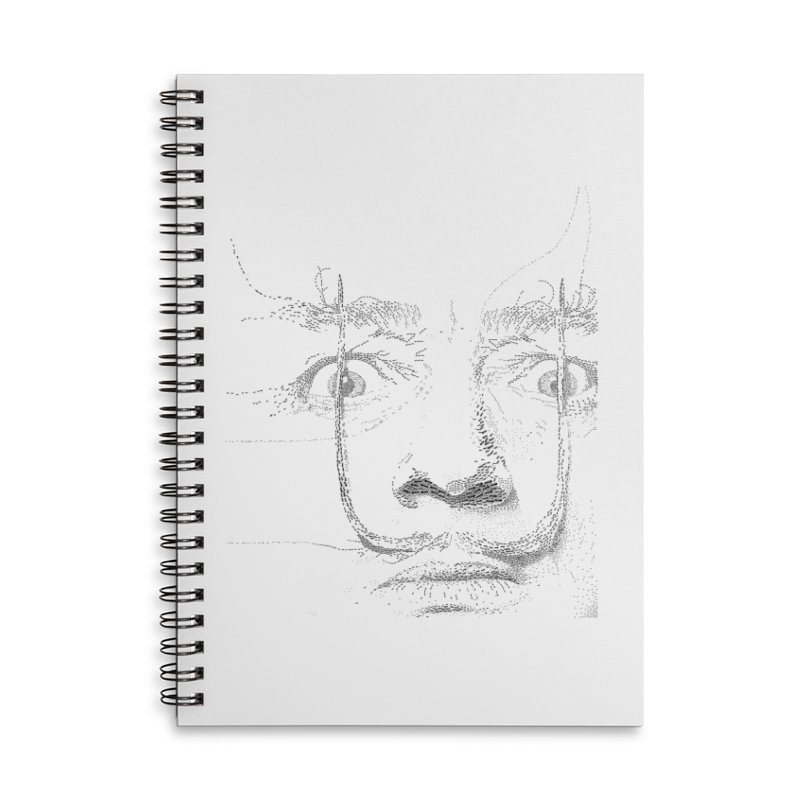 i am not mad! - salvador dali Accessories Lined Spiral Notebook by the twisted world of godriguezart