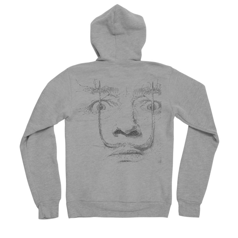 i am not mad! - salvador dali Men's Sponge Fleece Zip-Up Hoody by the twisted world of godriguezart