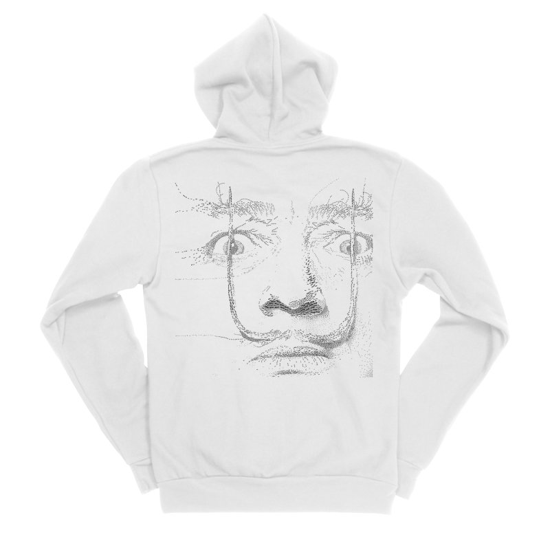 i am not mad! - salvador dali Women's Sponge Fleece Zip-Up Hoody by the twisted world of godriguezart