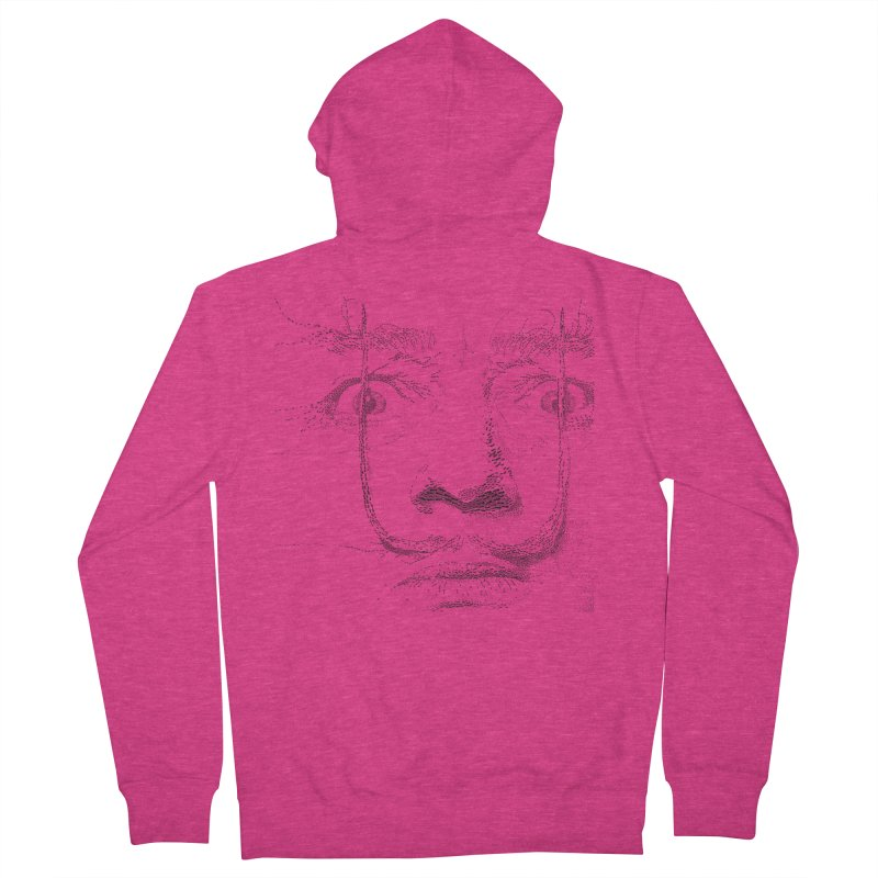 i am not mad! - salvador dali Women's French Terry Zip-Up Hoody by the twisted world of godriguezart