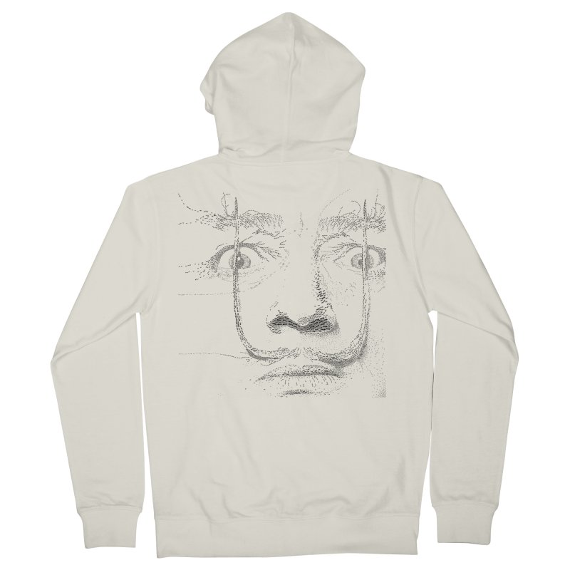i am not mad! - salvador dali Men's French Terry Zip-Up Hoody by the twisted world of godriguezart