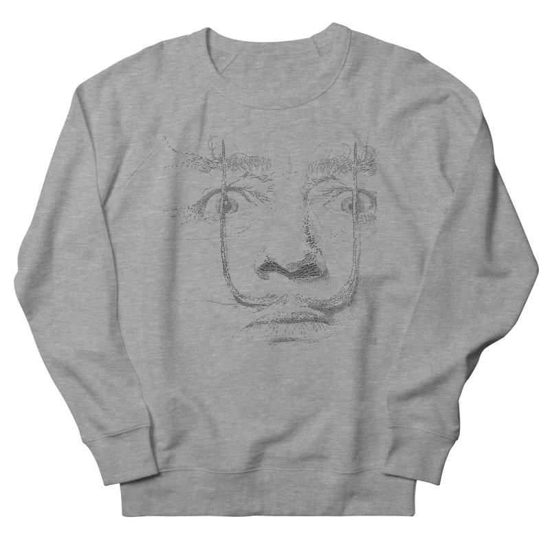 i am not mad! - salvador dali Men's French Terry Sweatshirt by the twisted world of godriguezart