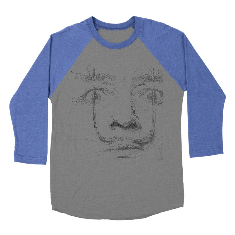i am not mad! - salvador dali Men's Baseball Triblend Longsleeve T-Shirt by the twisted world of godriguezart