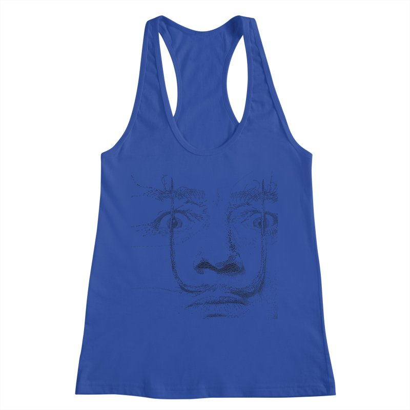 i am not mad! - salvador dali Women's Racerback Tank by the twisted world of godriguezart