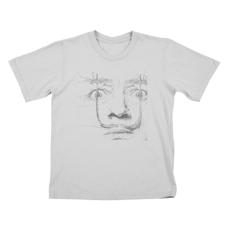 i am not mad! - salvador dali Kids T-Shirt by the twisted world of godriguezart