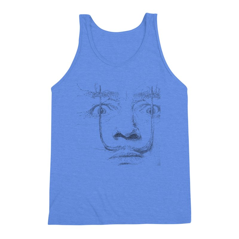 i am not mad! - salvador dali Men's Triblend Tank by the twisted world of godriguezart