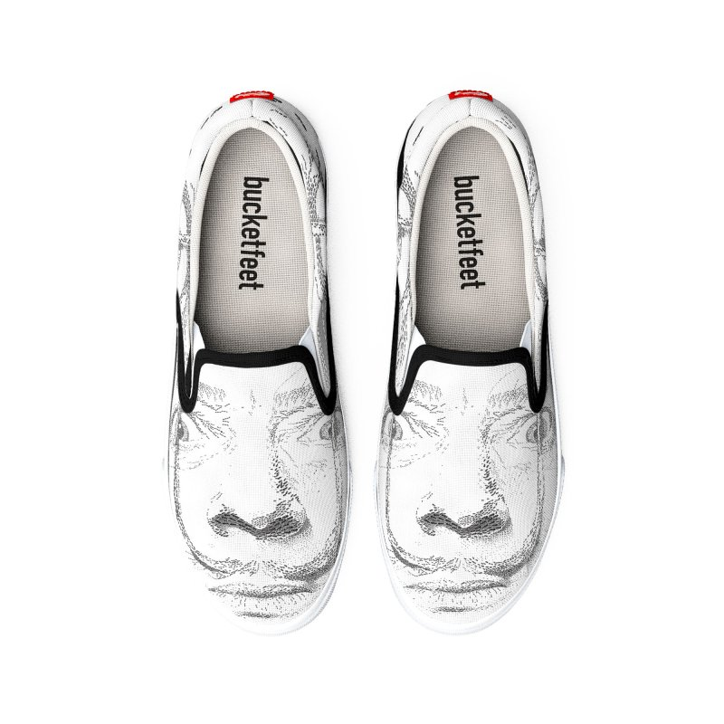i am not mad! - salvador dali Men's Shoes by the twisted world of godriguezart