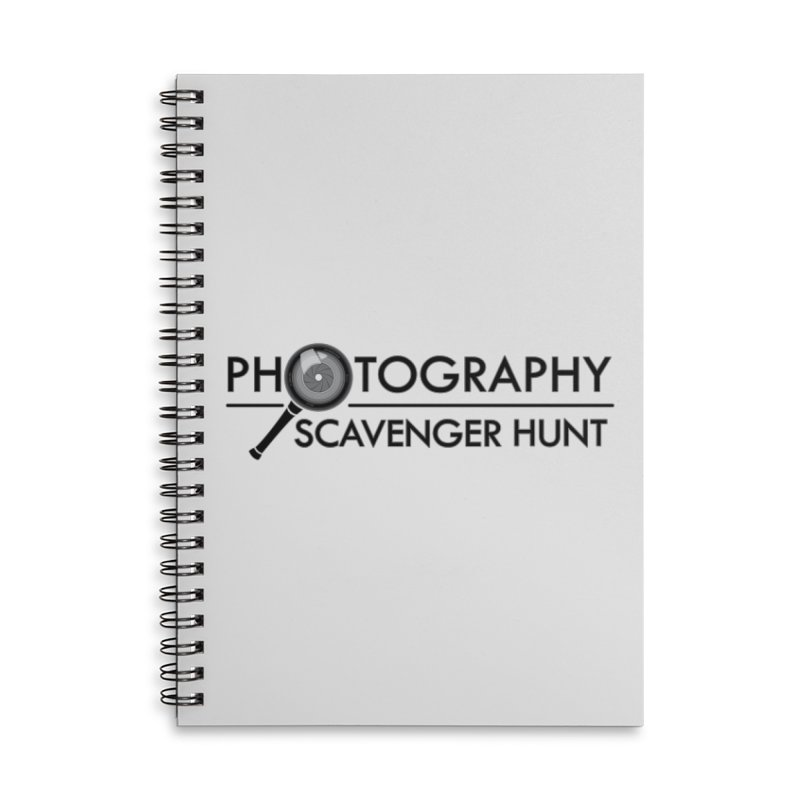 photography scavenger hunt Accessories Lined Spiral Notebook by the twisted world of godriguezart