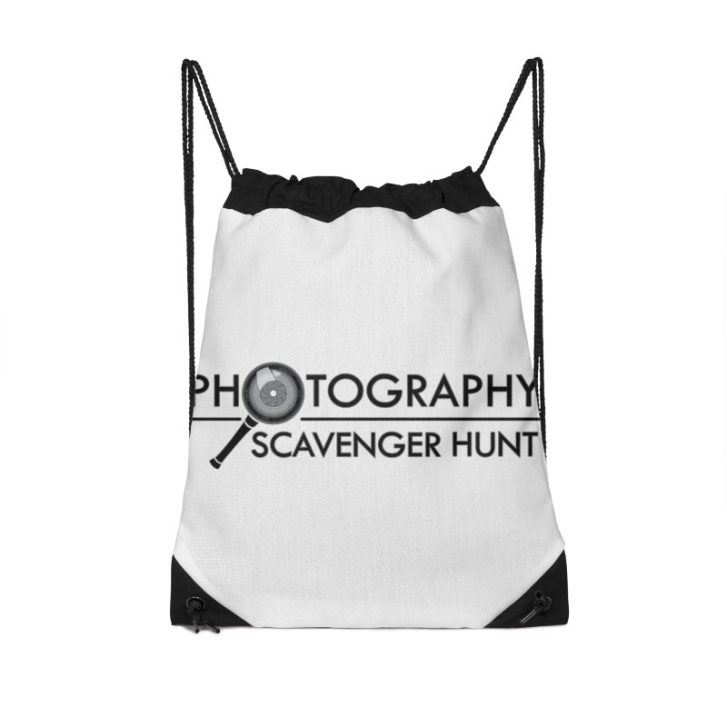 photography scavenger hunt Accessories Drawstring Bag Bag by the twisted world of godriguezart