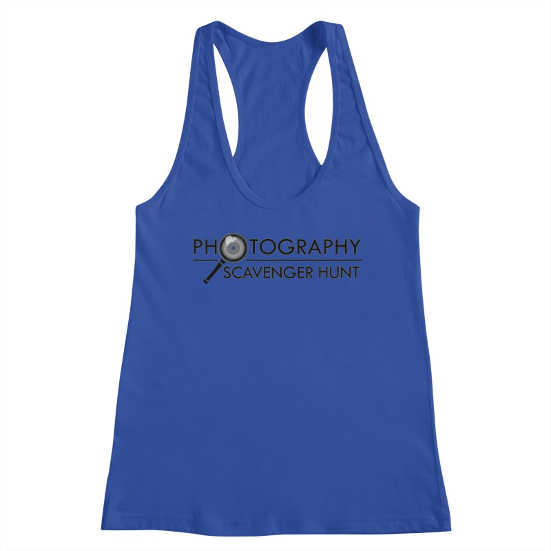 photography scavenger hunt Women's Racerback Tank by the twisted world of godriguezart