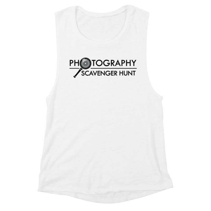 photography scavenger hunt Women's Muscle Tank by the twisted world of godriguezart