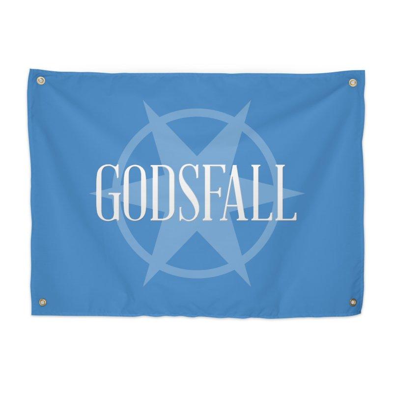 Godsfall Logo Silver Home Tapestry by Godsfall