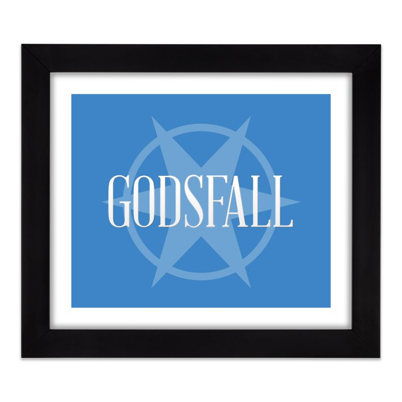 Godsfall Logo Silver Home Framed Fine Art Print by Godsfall