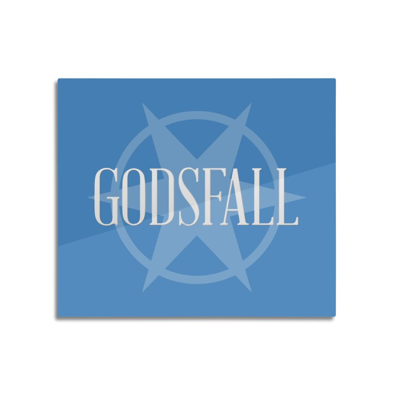 Godsfall Logo Silver Home Mounted Aluminum Print by Godsfall