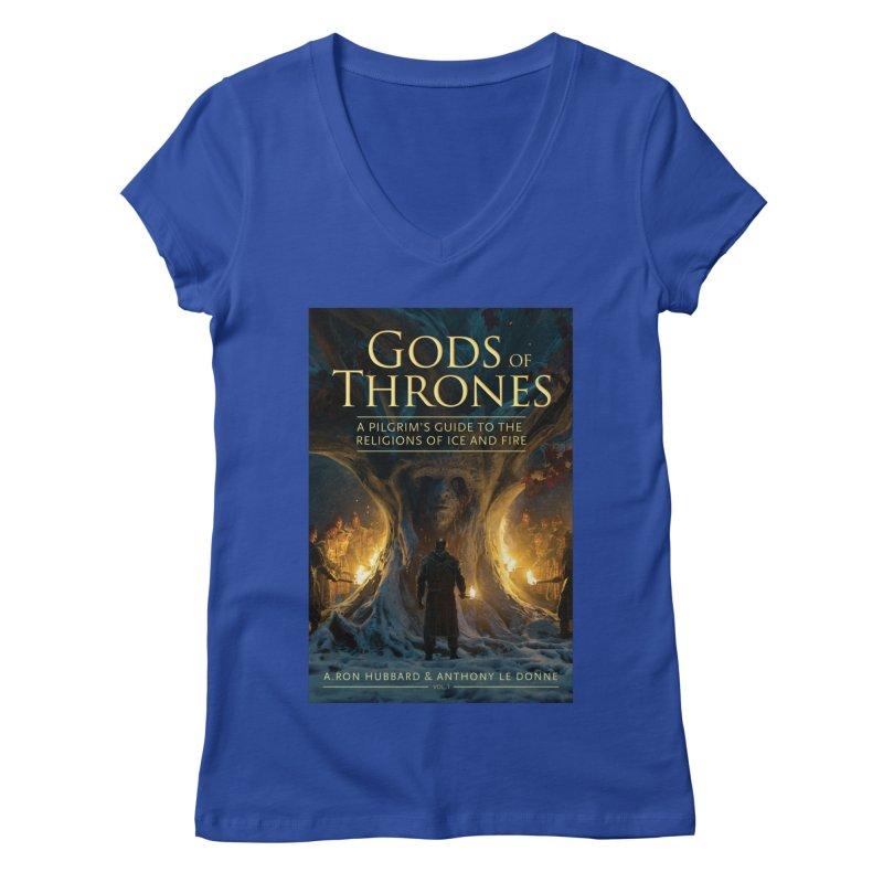 Gods of Thrones Vol. 1 Cover Art Women's Regular V-Neck by Gods of Thrones Shop