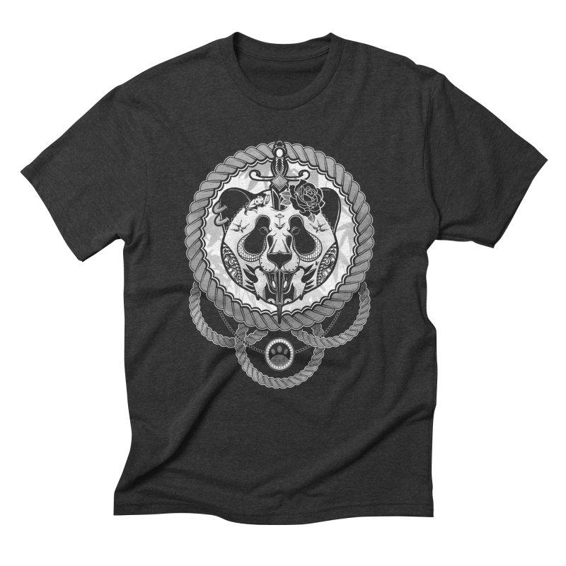Extreme Panda Men's Triblend T-shirt by godzillarge's Artist Shop