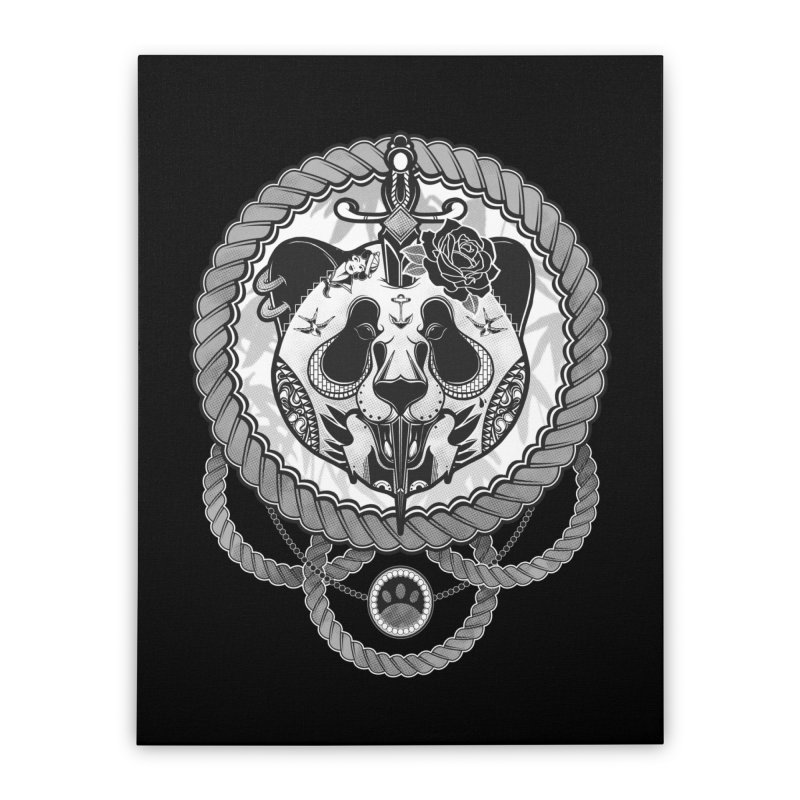 Extreme Panda Home Stretched Canvas by godzillarge's Artist Shop