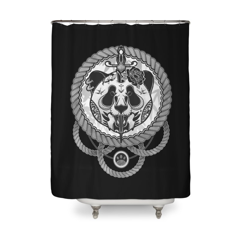 Extreme Panda Home Shower Curtain by godzillarge's Artist Shop