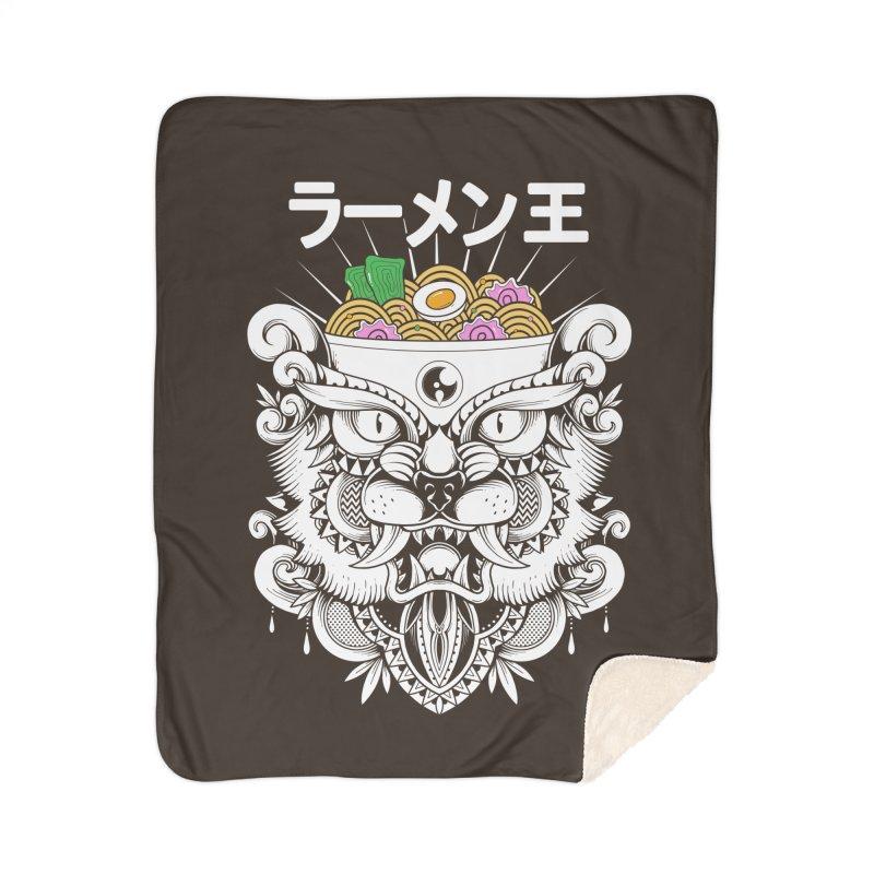 King of Ramen Home Sherpa Blanket Blanket by godzillarge's Artist Shop