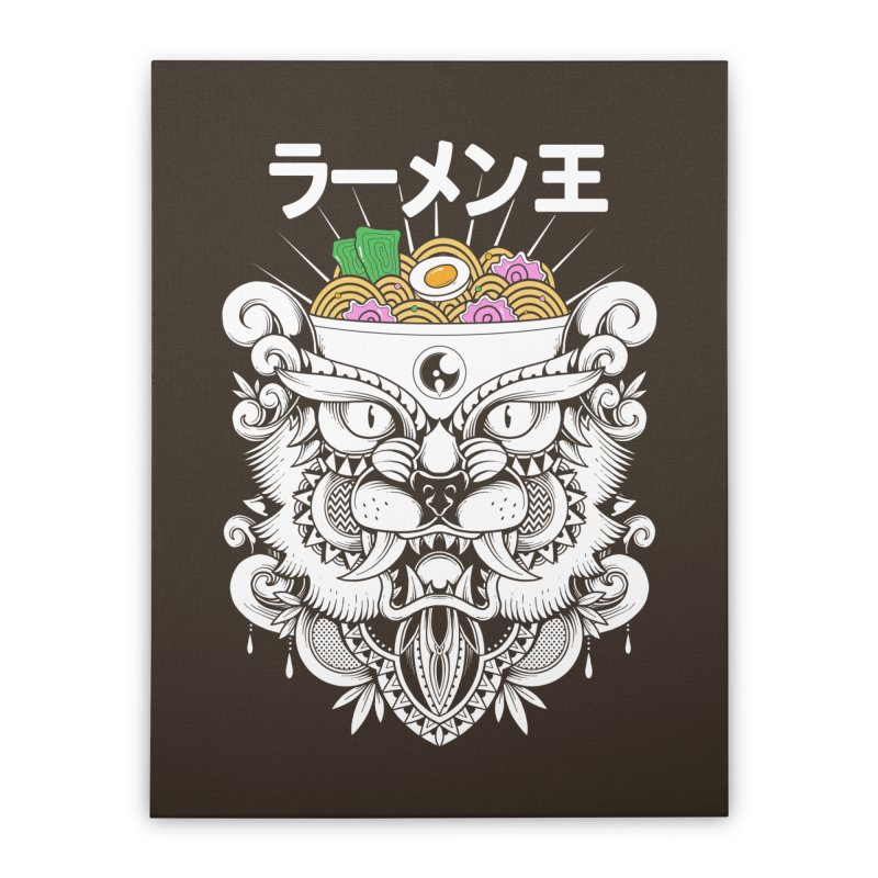 King of Ramen Home Stretched Canvas by godzillarge's Artist Shop