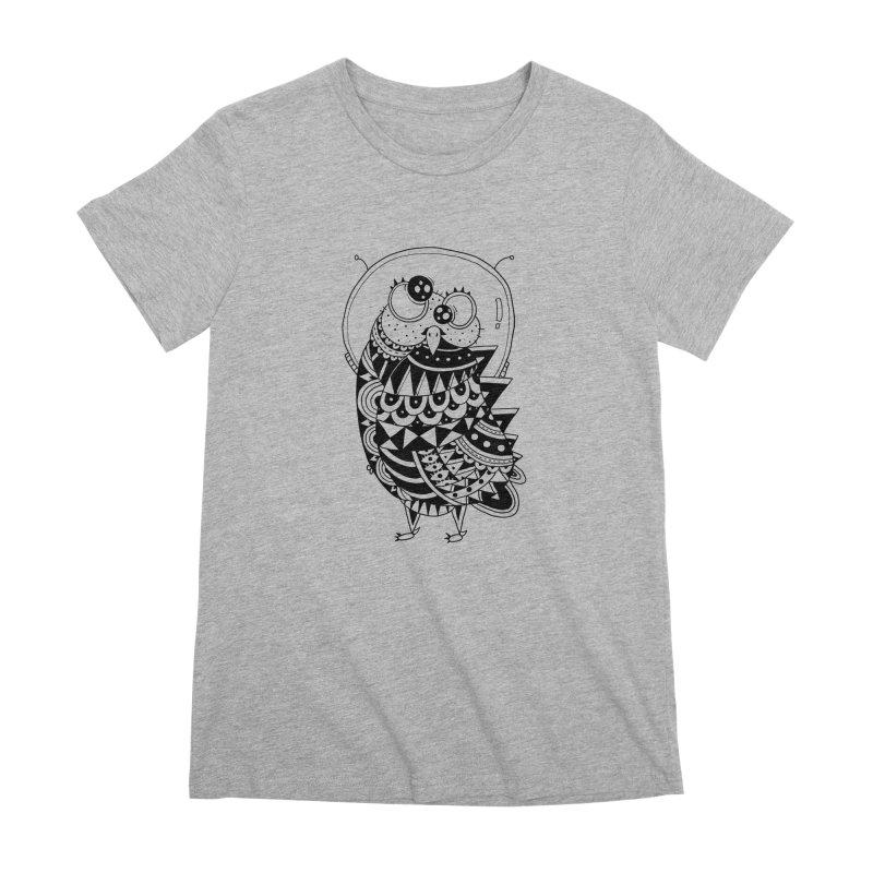 Owl Spaceman Women's Premium T-Shirt by godzillarge's Artist Shop