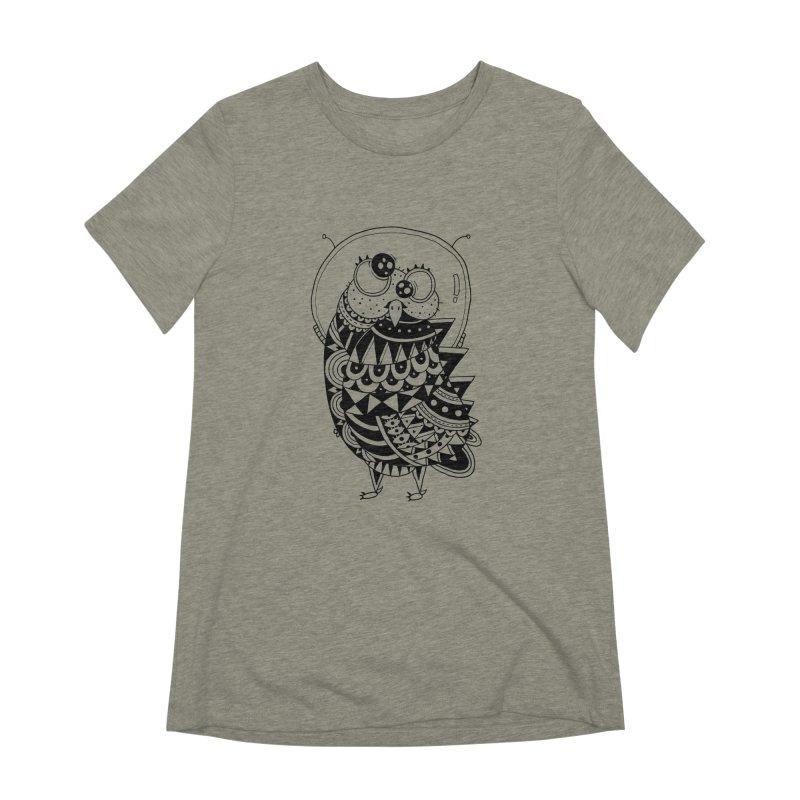 Owl Spaceman Women's Extra Soft T-Shirt by godzillarge's Artist Shop