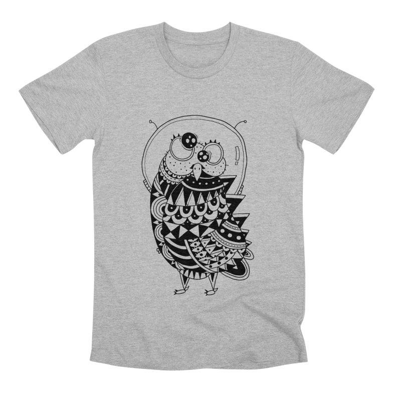 Owl Spaceman Men's Premium T-Shirt by godzillarge's Artist Shop