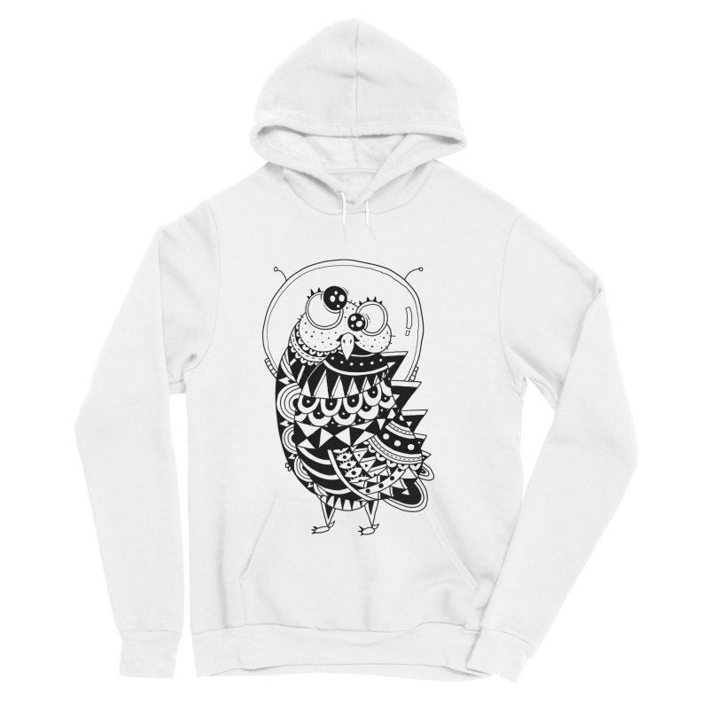 Owl Spaceman Women's Sponge Fleece Pullover Hoody by godzillarge's Artist Shop