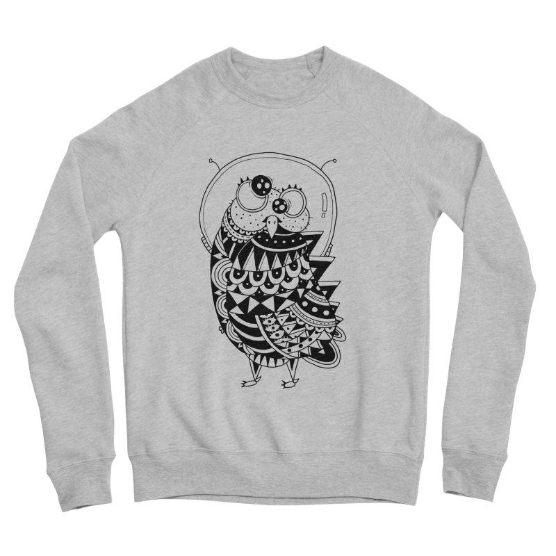 Owl Spaceman Women's Sponge Fleece Sweatshirt by godzillarge's Artist Shop