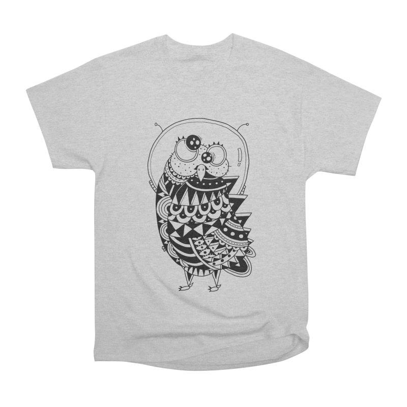 Owl Spaceman Men's Heavyweight T-Shirt by godzillarge's Artist Shop
