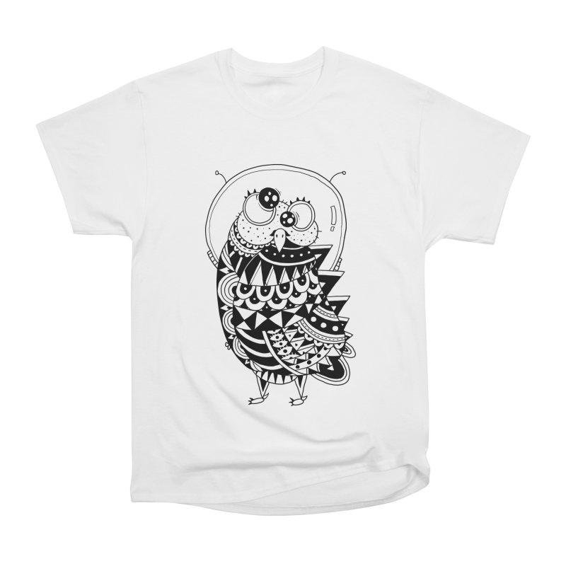 Owl Spaceman Women's Heavyweight Unisex T-Shirt by godzillarge's Artist Shop