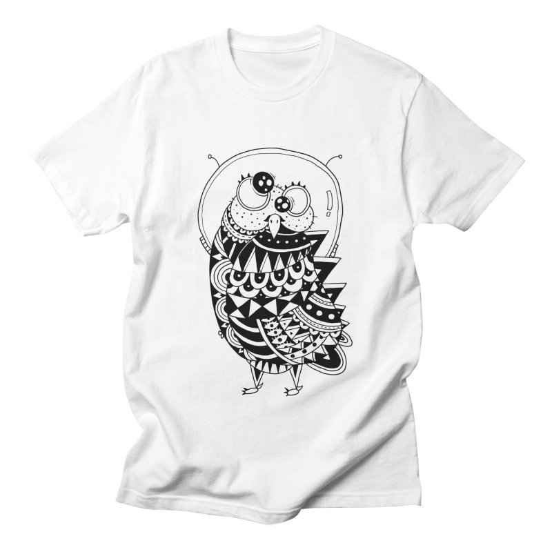 Owl Spaceman Men's Regular T-Shirt by godzillarge's Artist Shop