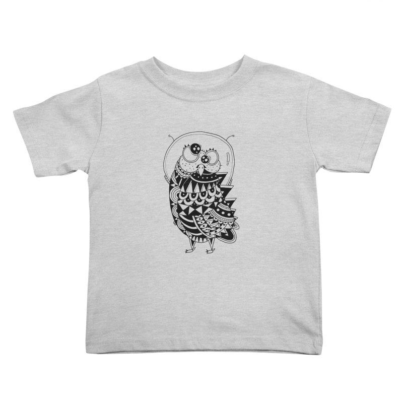 Owl Spaceman Kids Toddler T-Shirt by godzillarge's Artist Shop