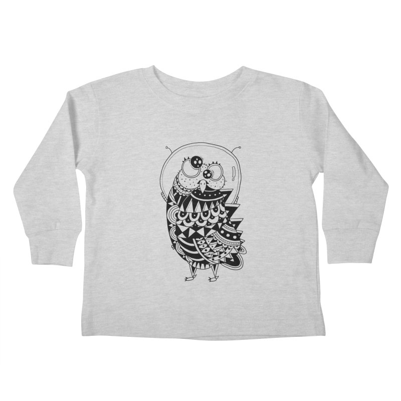Owl Spaceman Kids Toddler Longsleeve T-Shirt by godzillarge's Artist Shop