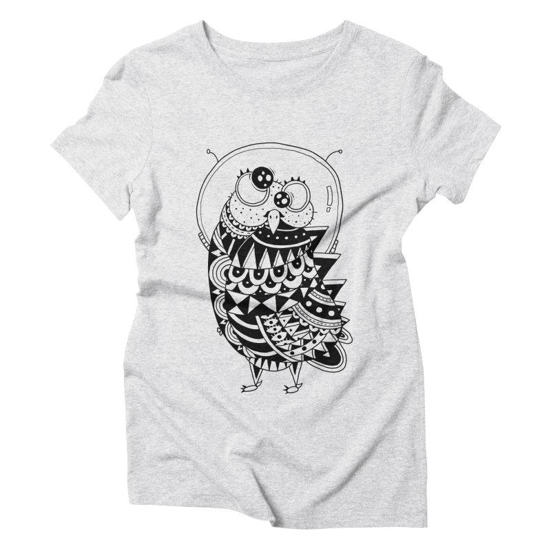 Owl Spaceman Women's Triblend T-Shirt by godzillarge's Artist Shop