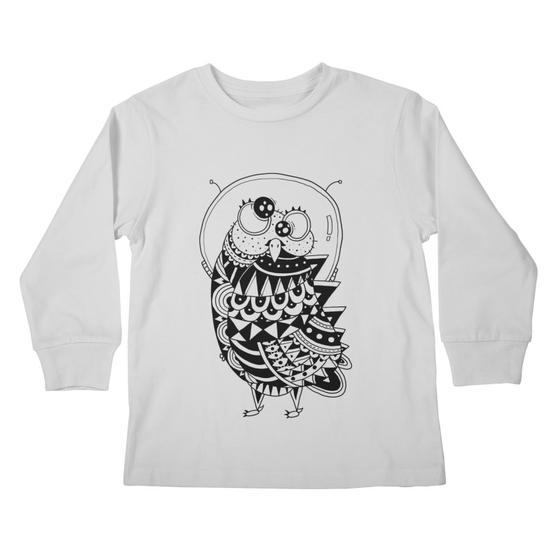 Owl Spaceman Kids Longsleeve T-Shirt by godzillarge's Artist Shop