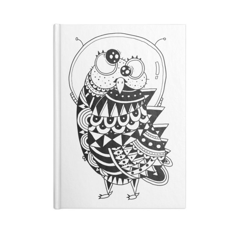 Owl Spaceman Accessories Blank Journal Notebook by godzillarge's Artist Shop