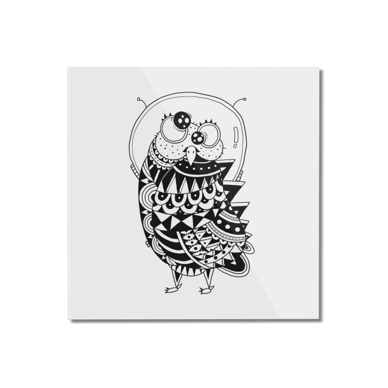 Owl Spaceman Home Mounted Acrylic Print by godzillarge's Artist Shop