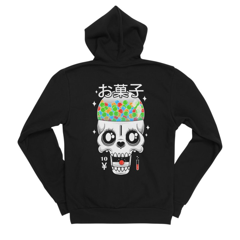 Creepy Gumball Machine Men's Sponge Fleece Zip-Up Hoody by godzillarge's Artist Shop
