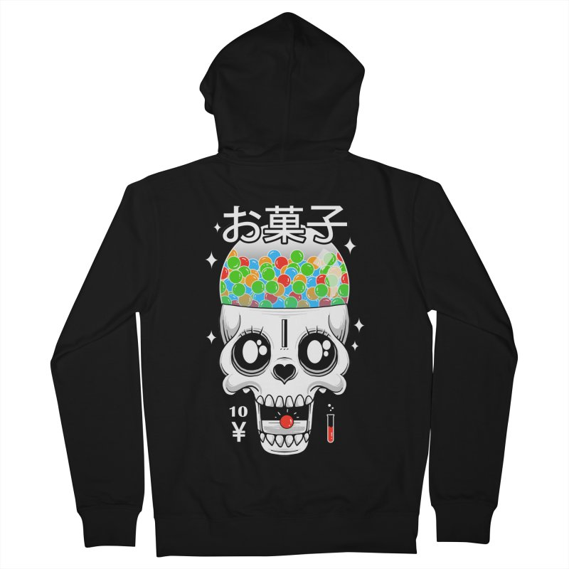 Creepy Gumball Machine Men's French Terry Zip-Up Hoody by godzillarge's Artist Shop