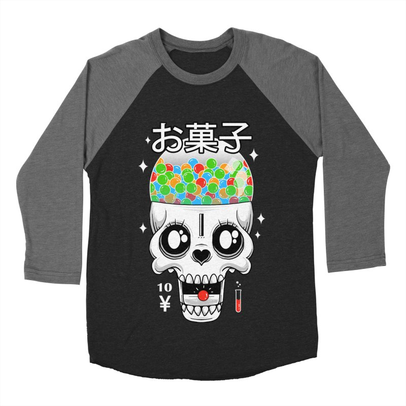 Creepy Gumball Machine Men's Baseball Triblend Longsleeve T-Shirt by godzillarge's Artist Shop