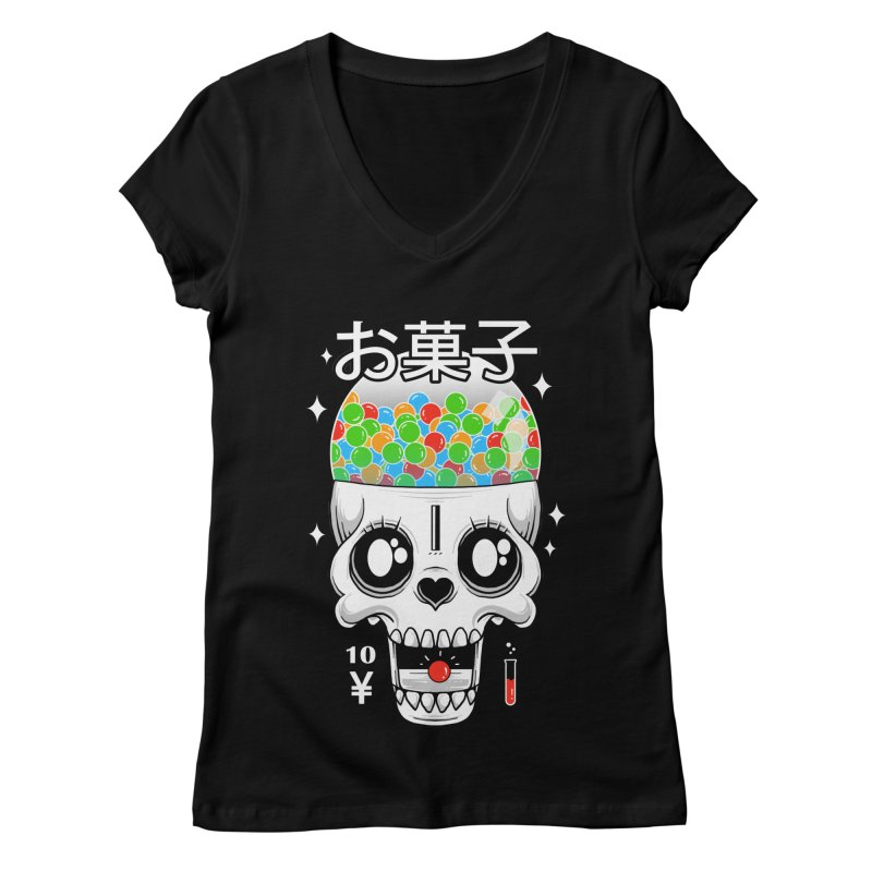 Creepy Gumball Machine Women's Regular V-Neck by godzillarge's Artist Shop