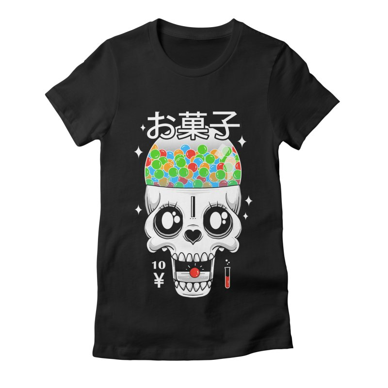 Creepy Gumball Machine Women's Fitted T-Shirt by godzillarge's Artist Shop
