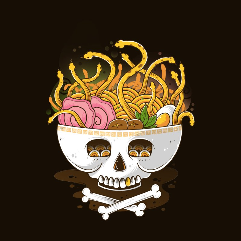 Ramen Medusa Men's T-Shirt by godzillarge's Artist Shop