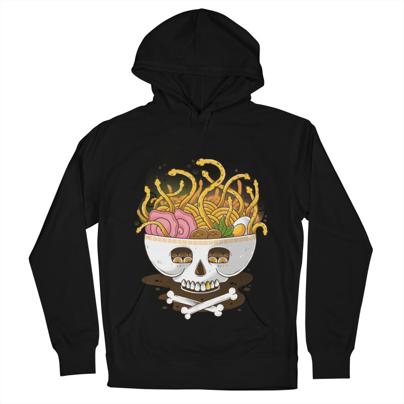 Ramen Medusa Men's French Terry Pullover Hoody by godzillarge's Artist Shop