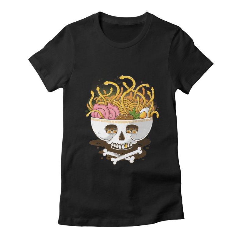 Ramen Medusa Women's Fitted T-Shirt by godzillarge's Artist Shop