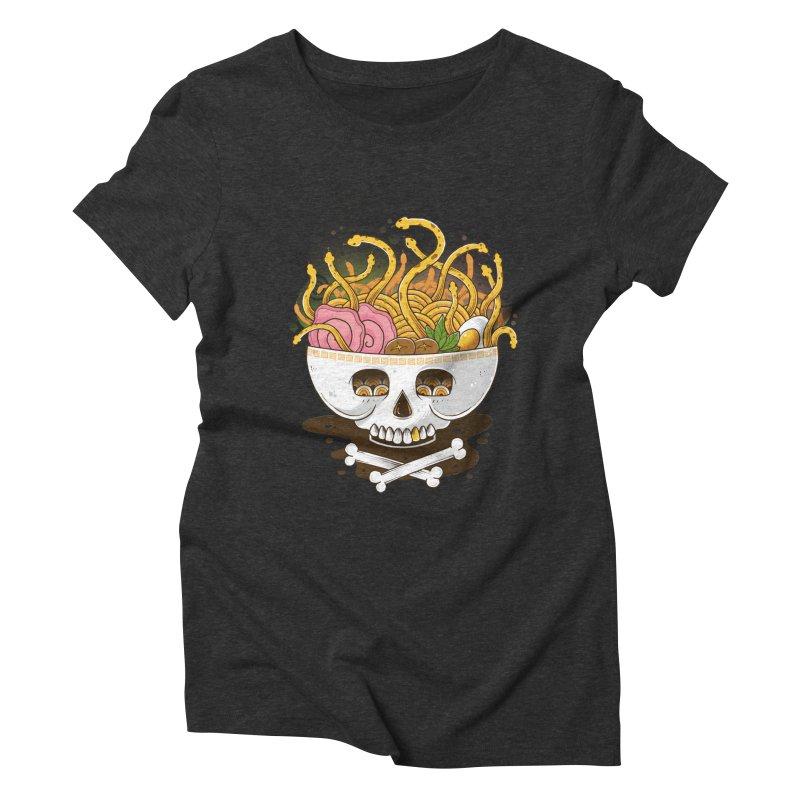 Ramen Medusa Women's Triblend T-Shirt by godzillarge's Artist Shop