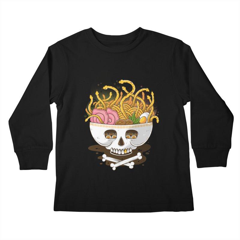 Ramen Medusa Kids Longsleeve T-Shirt by godzillarge's Artist Shop