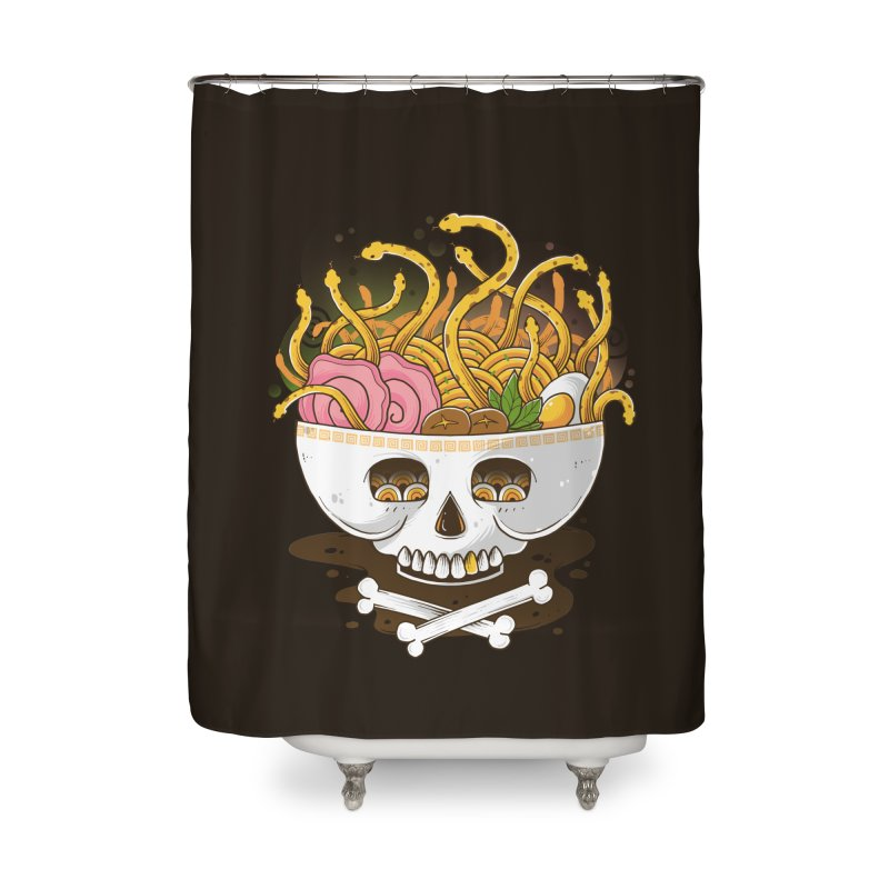 Ramen Medusa Home Shower Curtain by godzillarge's Artist Shop