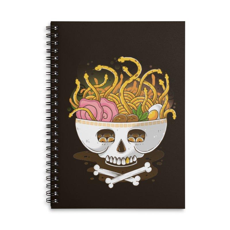 Ramen Medusa Accessories Lined Spiral Notebook by godzillarge's Artist Shop